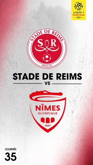 35 EME JOURNEE DE LIGUE 1 CONFORAMA : STADE DE REIMS - NIMES OLYMPIQUE 1577040_stade-de-reims-nimes-olympique-ligue-1-conforama-35eme-journee-stade-auguste-delaune-reims