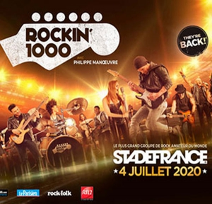 ROCKIN 1000 STRASBOURG BUS + CAT 1 - STADE DE FRANCE
