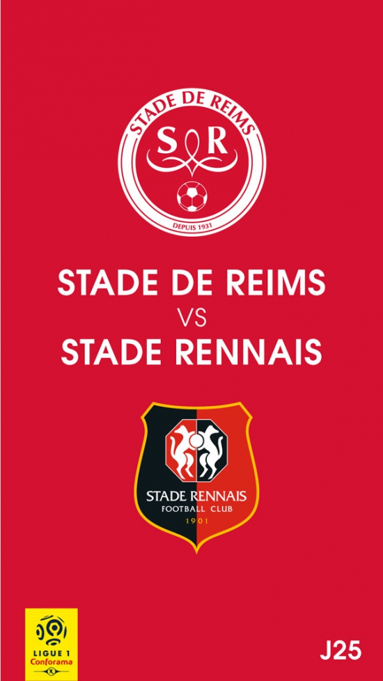 STADE DE REIMS / STADE RENNAIS FC - LIGUE 1 CONFORAMA - 25EME JOURNEE