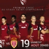 affiche FC METZ / AS MONACO - LIGUE 1 CONFORAMA - 3EME JOURNEE