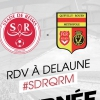 affiche STADE DE REIMS / QUEVILLY ROUEN - DOMINO'S LIGUE 2 - 27EME JOURNEE