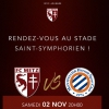 affiche FC METZ / MONTPELLIER HSC - LIGUE 1 CONFORAMA - 12EME JOURNEE