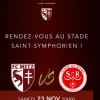 affiche FC METZ / STADE DE REIMS - LIGUE 1 CONFORAMA - 14EME JOURNEE