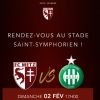 affiche FC METZ / AS SAINT-ETIENNE - LIGUE 1 CONFORAMA - 22EME JOURNEE