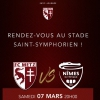 affiche FC METZ / NIMES OLYMPIQUE - LIGUE 1 CONFORAMA - 28EME JOURNEE