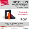 affiche Blonk - Exposition - Entre art et architecture